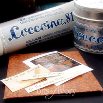 How I Fell In Love with Coccoina Adhesive For My Paper Projects