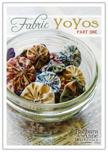 How to Make Simple Fabric Yo Yos for a Delightful Vintage Look | www.bitsofivory.com