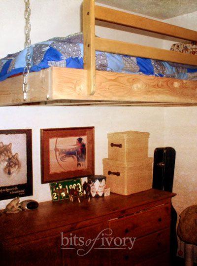 Hanging Loft Bed DIY Project