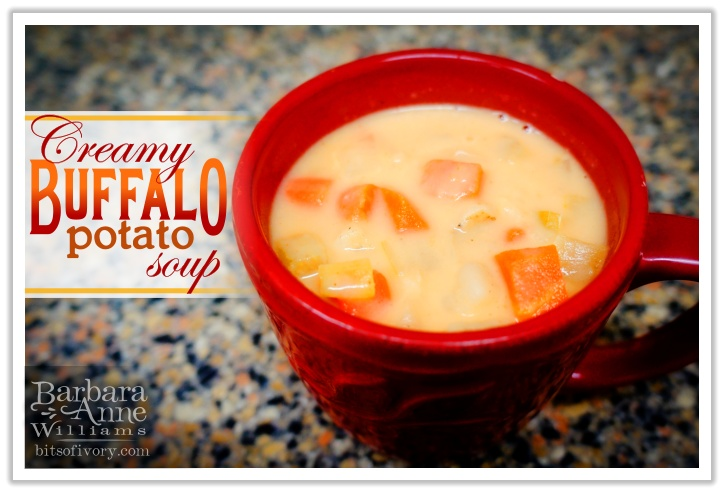 Creamy Buffalo Potato Soup | Barbara Anne Williams www.bitsofivory.com