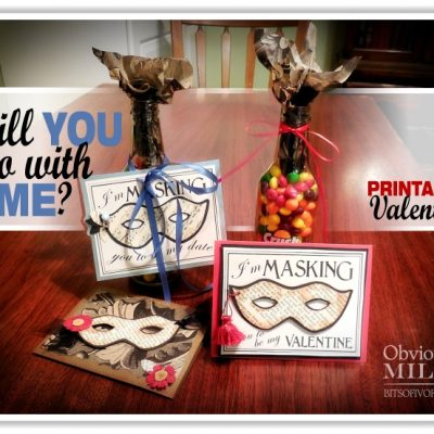 Will You Go With Me? Valentine Masquerade Printable