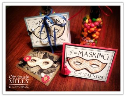 Masquerade cards from www.bitsofivory.com