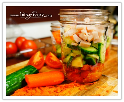 Why I Love Salad In A Jar - the toppings jar | www.bitsofivory.com