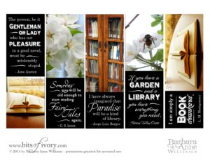 The Librarian's Daughter - A Mother's Day Tale plus printable bookmarks | www.bitsofivory.com