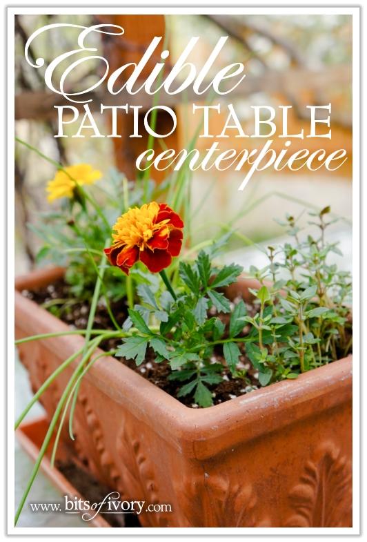 Edible Patio Table Centerpiece | www.bitsofivory.com