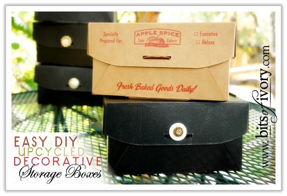 Easy Upcycled Decorative Storage Boxes | DIY | www.bitsofivory.com