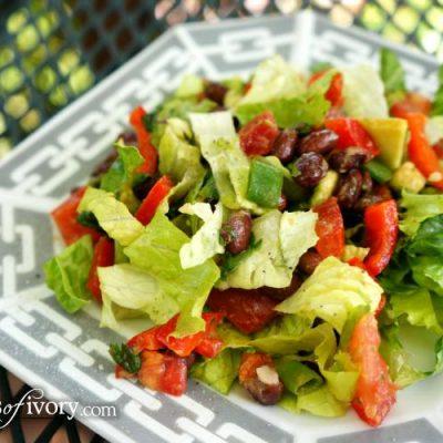 Light & Fresh Black Bean Taco Salad