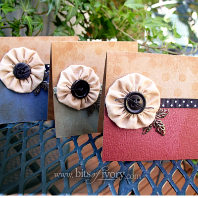 Darling Fabric Yo Yo Gift Cards – A Quick and Easy Project