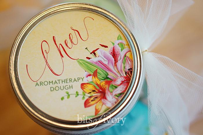 Aromatherapy dough Cheer jar lid