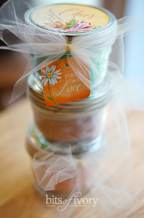 Aromatherapy dough for mother's day made with love tag