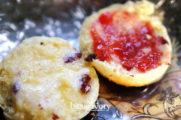British-Style Scones with butter and jam