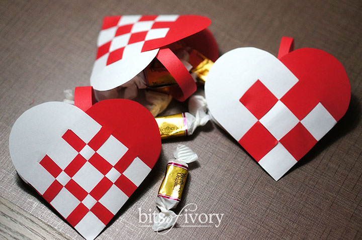 Danish Christmas Heart Baskets | Julehjerter | Filled with candy
