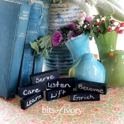 Easy Chalkboard Sticks and Stones For The Most Beautiful Words